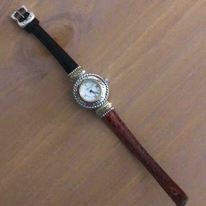 Brighton black/brown reversible watch